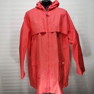 LL Bean Salmon Rain Jacket Size XL